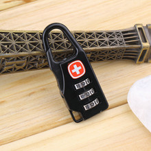 Swiss Cross Symbol Combination Safe Code Number Lock Padlock for Luggage Zipper Bag Backpack Handbag Suitcase Drawer Cabinet
