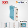 MDR-20-5 high efficiency PSU 5v 3a 20w Din Rail switching power supply