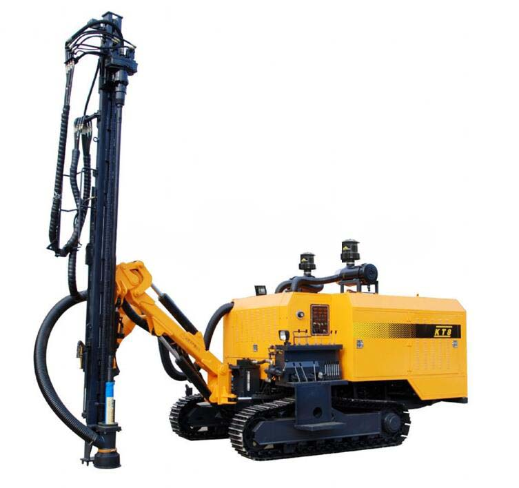 High quality & efficieny crawler hydraulic drilling rig KT7