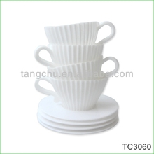 4pcs Silicone Cake Cup Baking with Handle Cupcake Baking Cake Mould