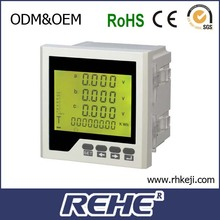 RH-3FHD2Y three phase lcd Multiple rate electric energy measurement Harmonic measurement flexo electric power meter