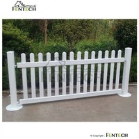 Uv Proof Pvc Portable Fence Panels, Garden Fence