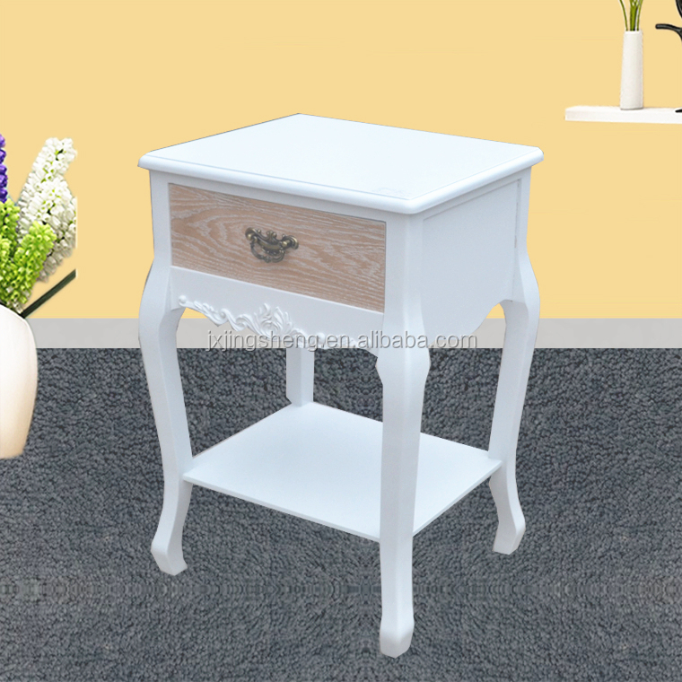 shabby lobby single drawer bedside table with storage shelf,side tables for bedroom