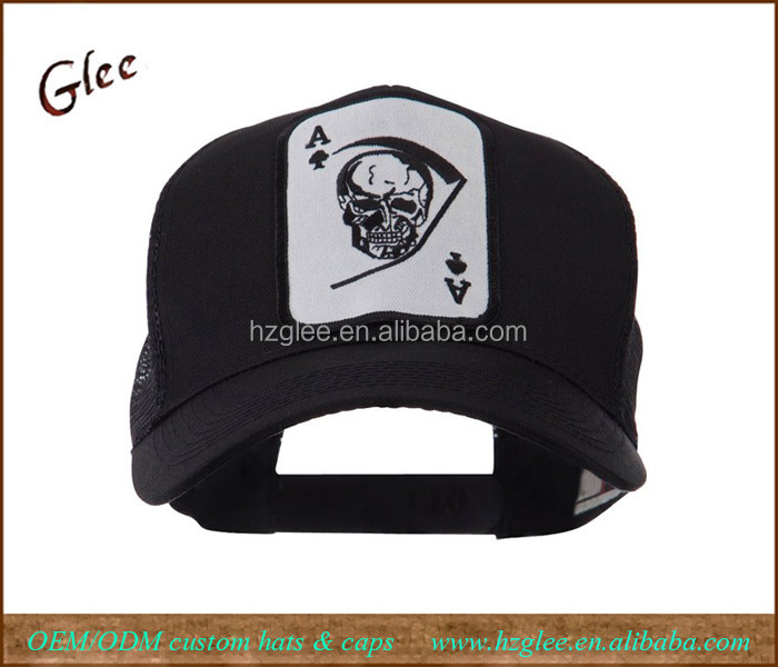 Skull and Choppers Embroidered Military Patched Mesh Cap Trucker Hat