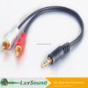 AV cable,Stereo MOLDED 3.5 jack to 2RCA male A/V cable