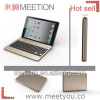 Luxury gold Bluetooth keyboard with case for ipad air