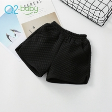 Q2-baby Quality Products Winter Casual Thicken Elastic Waist Kids Girls Shorts With Pocket