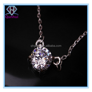 Charming pink necklaces with round Shaped cubic zirconia stone