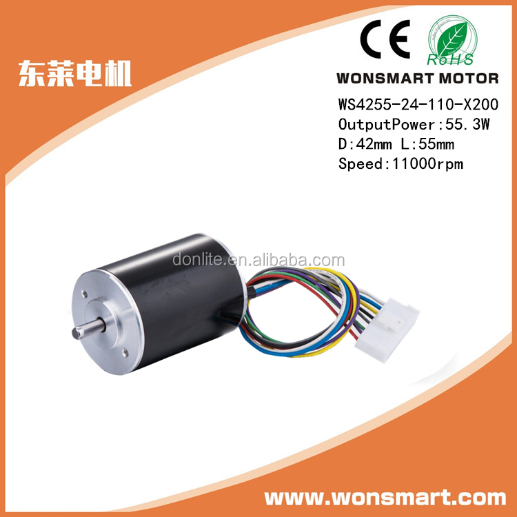 brushless dc motors with long lifetime