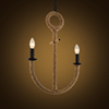 Boat anchor shaped loft vintage hemp rope bar E27 pendant lamp