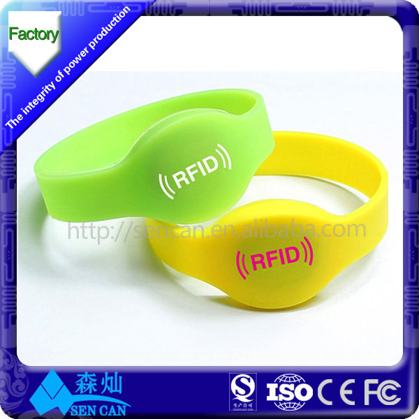 waterproof silicone rfid 125khz wristband long range rfid bracelet for access control