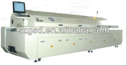 GSD-L8 large size eight zones SMT CFL reflow oven cost, To be the best manufacturers in china