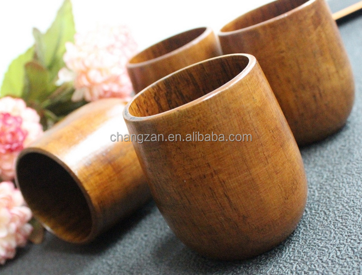 Classical glass cup high-quality natural wood