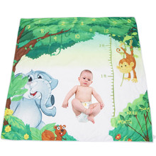 Newest Elephant Tree Digital Printed Newborn Photo Props Baby Monthly Growth Record Milestone Blanket