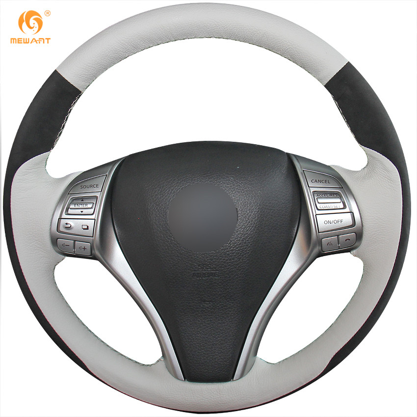 Leather Suede Steering Wheel Cover for Nissan 2013 2014 Teana Altima 2014 2015 X-Trail Rogue