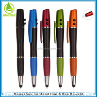 Wholesale 4 in1 laser pointer LED torch touch screen stylus pen for iPhone