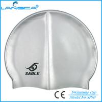 Silicone logo custom swim caps no minimum