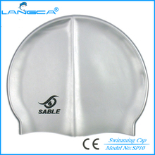 Silicone logo custom swim caps no minimum