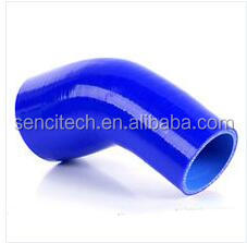 Air intake 45 degree reducing elbow silicone hose ID=51-57mm
