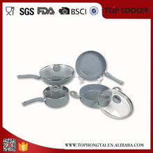 Healthy Cooking marble coating stone baking cookware sets