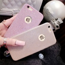 Wholesale Soft Gel TPU Ultra Thin Bling Crystal Back Cover Glitter Phone Cases For iPhone