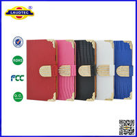 Magnetic Diamond Wallet Leather Flip Case Cover For samsung galaxy S5 Laudtec