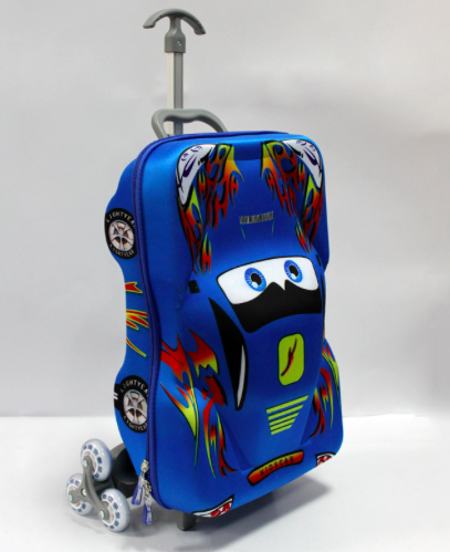 Cartoon car shape trolley bag 21x14x8 Inches kids luggage