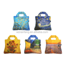 good quality Promotional Eco Reusable recycled Fruit Bag Nylon Polyester Folding Shopping Bags