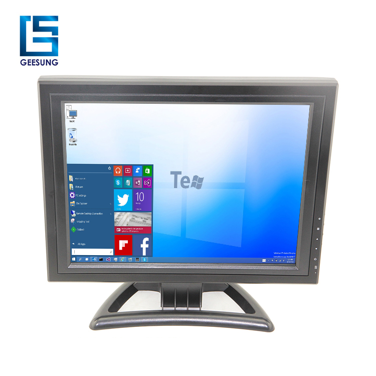 "15'' 17"" 19'' lcd 5 wire resistive touch screen monitor/RS232 or USB touch option"