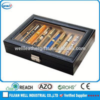 10pcs luxury faux leather pen display case