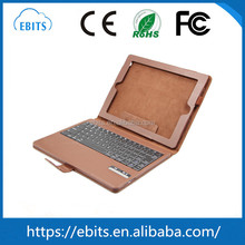Custom bluetooth leather tablet pc leather keyboard for ipad