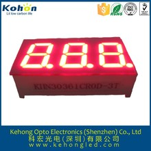 green color 0.40 inch led display: FND led 7segment display with 3 digits