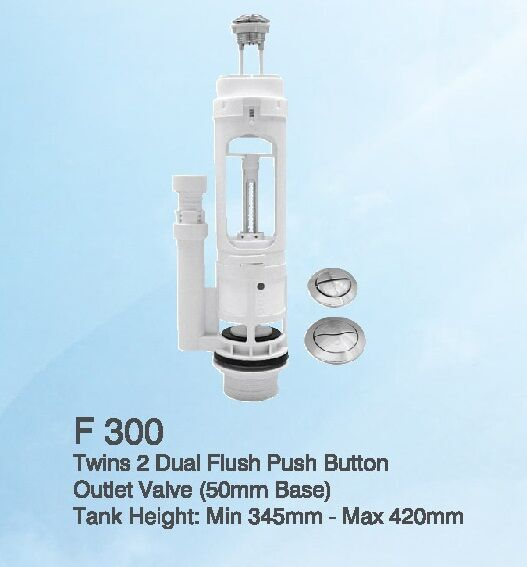 TWINS 2 DUAL FLUSH PUSH BUTTON OUTLET VALVE