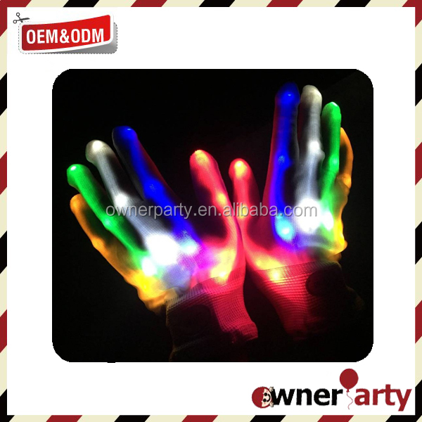 2015 High Quality Low Price LED Light Up Gloves