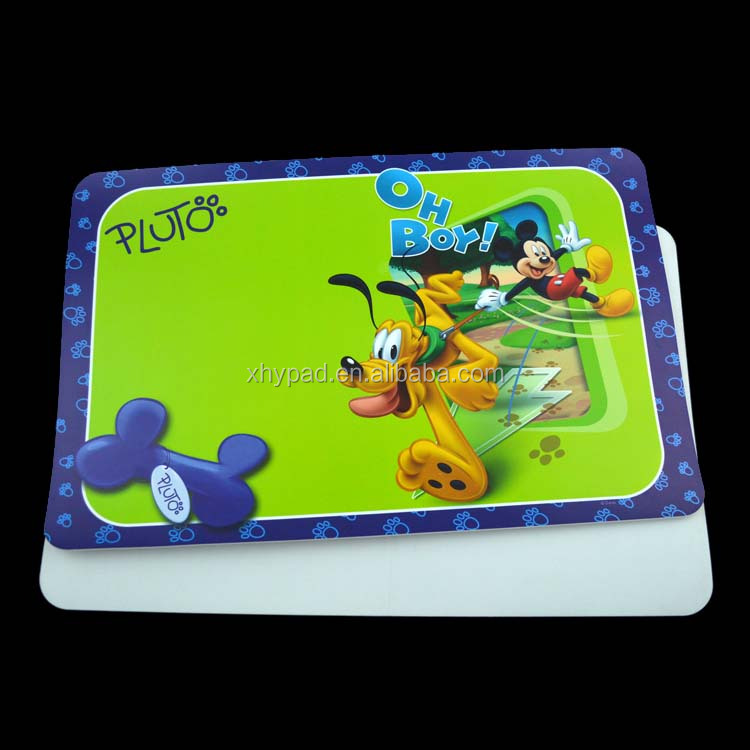 good quality printed pp placemat for kids