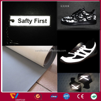 hot sale reflective leather for sports shoes