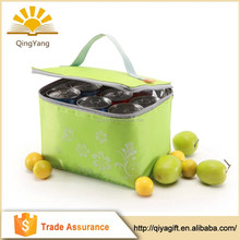 Printed polyester portable custom fitness cooler lunch bag