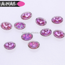 Two-color Glass Nail Glitter Diamond Tips Decoration Crystal AB 12 Colors Point Back Nail Art Rhinestone