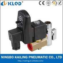 Two-position Two-way electric auto drain solenoid valve with timer