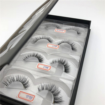 Wholesale Private Label hand made false eyelashes real mink fur lashes box
