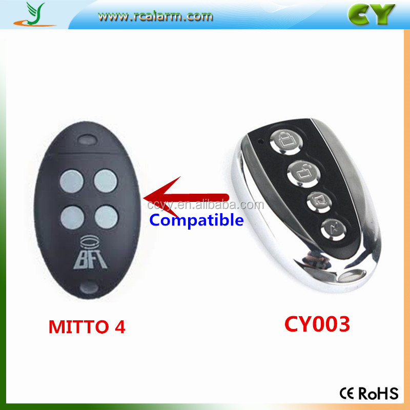 Shenzhen factory price 433M.92mhz Compatible BFT Mitto 2 wireless remote control BFT remote control