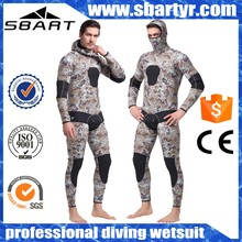 5mm two-piece yamamoto neoprene fabric printing diving camouflage wetsuit men