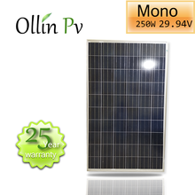 Ollin Solar panel 250W MONOcrystalline Solar Panel/solar roof panels