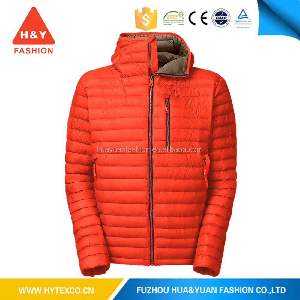 Promotional low price customized color casual light colorful padded jacket for men