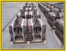 lost foam prebaked steel casting Eight-Claw Anode Yoke