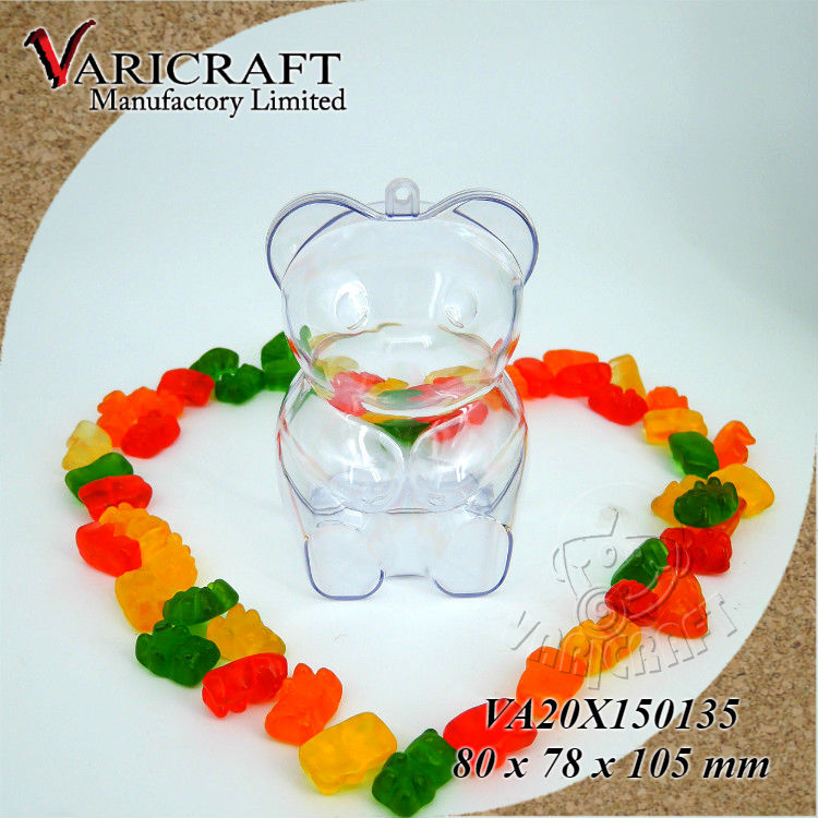 Factory direct wholesale Clear Plastic PS Teddy bear gift box