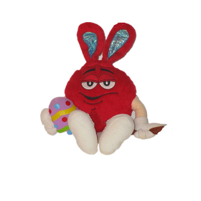 Red Candy Stuffed Plush Toy Easter Painting Egg