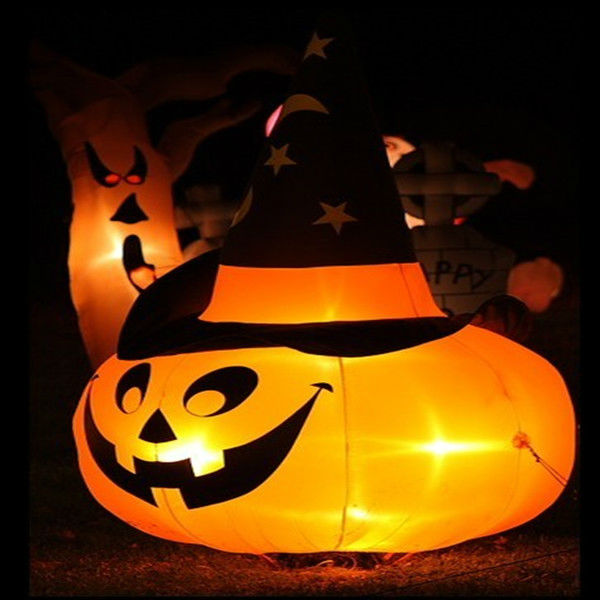 Hot sale! 2014 inflatablehalloween light up pumpkin/halloween pumpkin