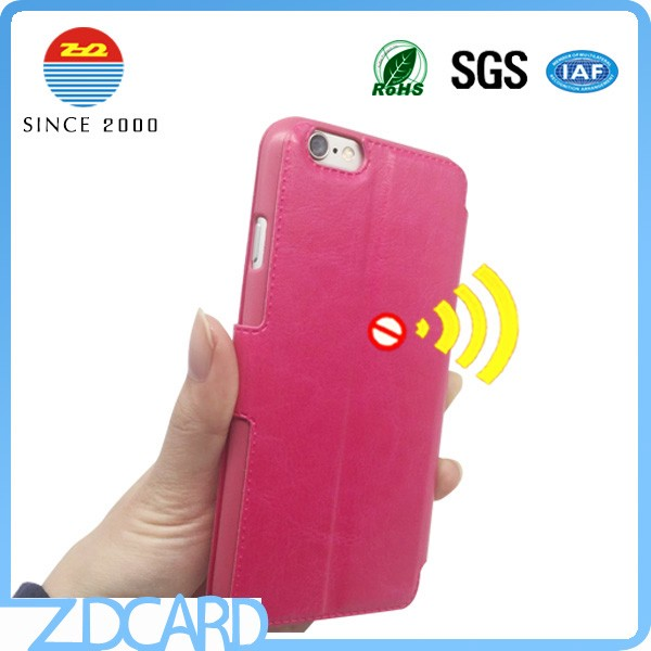 2017 fashion rfid blocking cell Phone case card holder