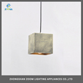 Contemporary concrete hanging lamp for residential dining room lighting